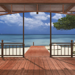 FOTOTAPET CASA PE LITORAL 8-101 Plaja Vara Blue