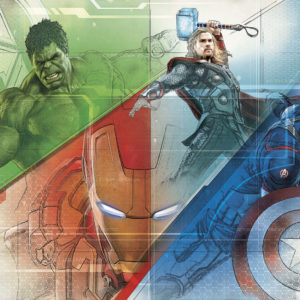 Fototapet Marvel Avengers Graphic Art