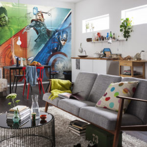 Fototapet Marvel Avengers Graphic Art Interior