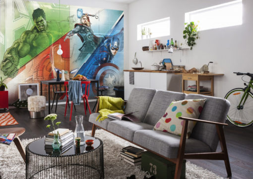 Fototapet Marvel Avengers Graphic Art Interior