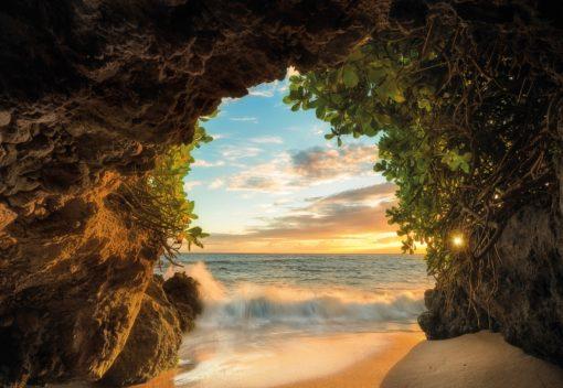 Fototapet 3D Hide Out Pestera Natura Peisaj Plaja 2