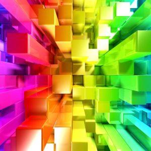 Fototapet 3D Cuburi colorate