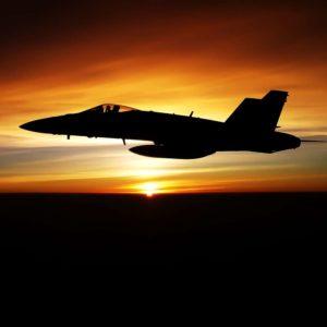 Fototapet 3D Avion in apus de soare 12