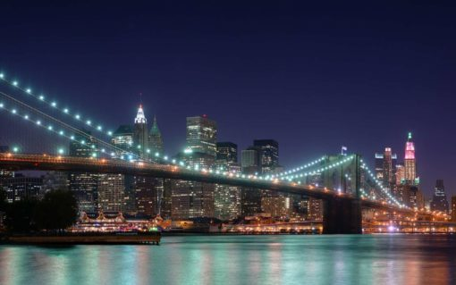 New York Podul Brooklyn Tapet Foto
