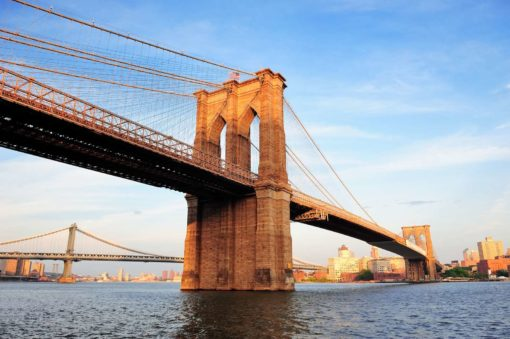 New York Podul Brooklyn 05 Tapet 3D