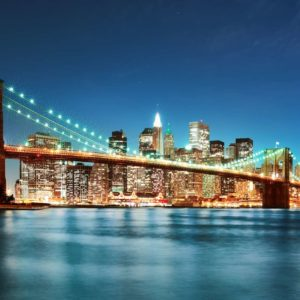 New York Podul Brooklyn 06 Tapet 3D
