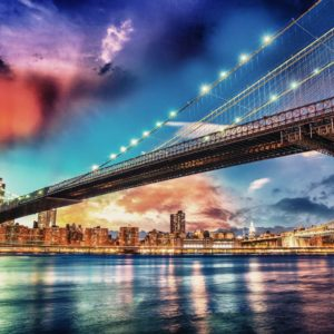 Fototapet 3D Podul Brooklyn Bridge 07