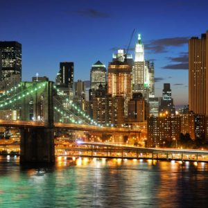 Tapet Foto 3D - Podul Brooklyn Bridge 08