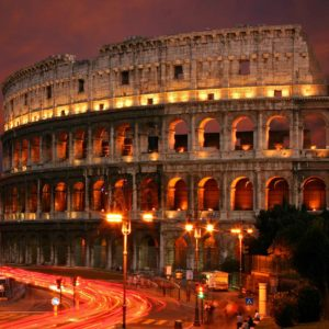 Fototapet Nocturn Italia Roma Colosseum 03