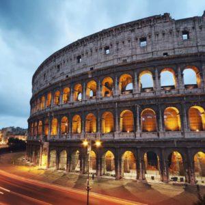 Tapet Foto Noapte Colosseum Italia Roma 04