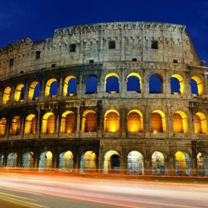 Fototapet Colosseum Noaptea 09 Italia Roma