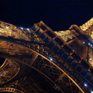 Fototapet 3D Turnul Eiffel Noaptea