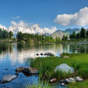 Tapet 3D Lac Peisaj Montan Fox-01-0129