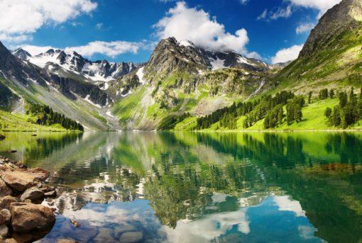 Fototapet Lac Montan Peisaj Reflexie 01-0141