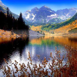 Tapet Foto 3D 01-0181 - Peisaj Montan Lac