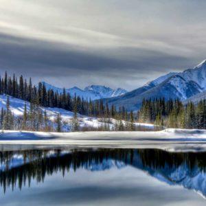Fototapet Fox 01-0189 - Peisaj Montan Lac Reflexie