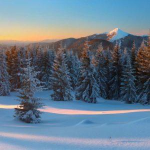 01-0191 - Fototapet 3D Peisaj Montan Zapada Brazi
