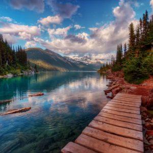 Fototapet Fox-01-0198 Peisaj Montan Lac