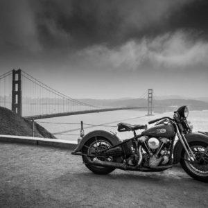 Fototapet Alb-Negru Fox-19-0401 - Motocicleta Retro