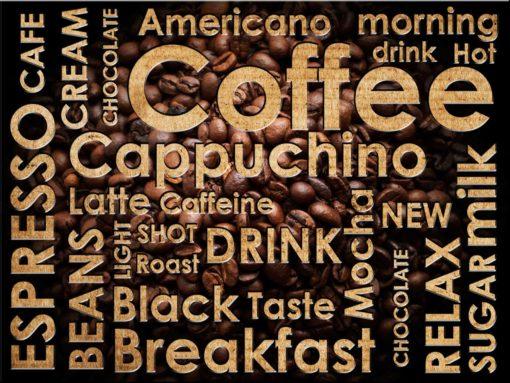 Tapet Foto Text Cafea Fox-25-0103