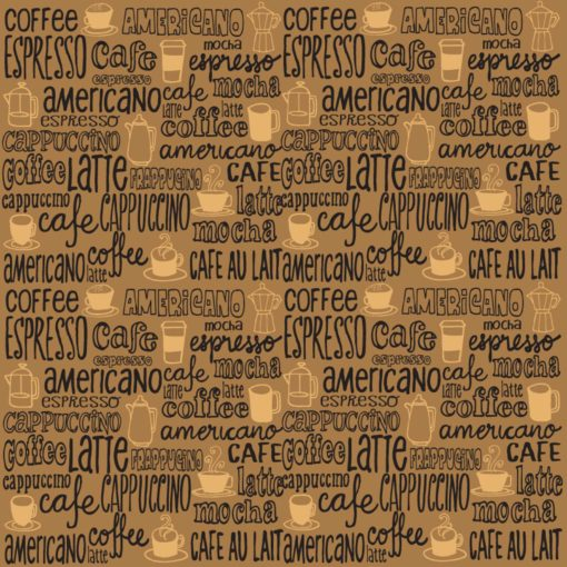 Fototapet Cafea Abstract Text Cafenea Fox-25-0112