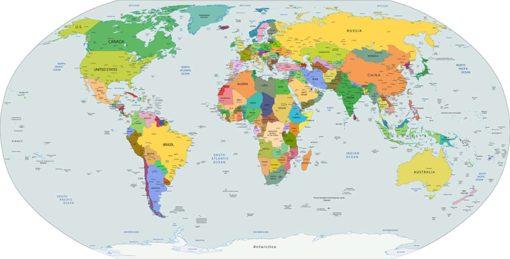 Tapet Foto Harta Lumii 05 Proiectie Ovala