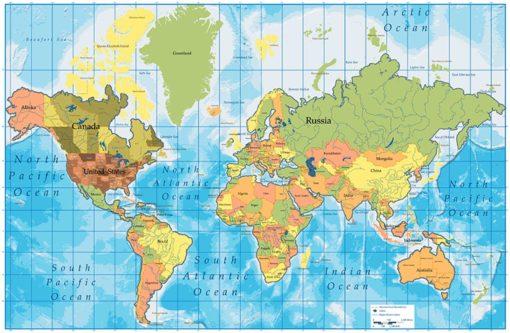 Tapet Foto Harta Lumii 06