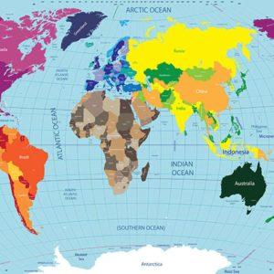 Harta Lumii Fototapet 08