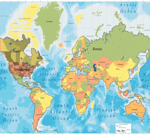 Fototapet Harta Lumii 09