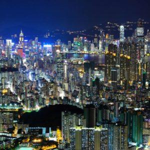 Fototapet Hong Kong 01 - Noapte