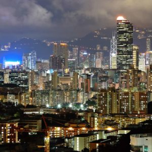 Tapet Foto Hong Kong 02 - Noapte
