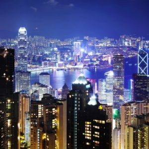 Fototapet Hong Kong 03 Noapte