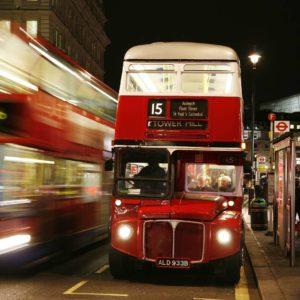 Fototapet Anglia Londra Autobuz