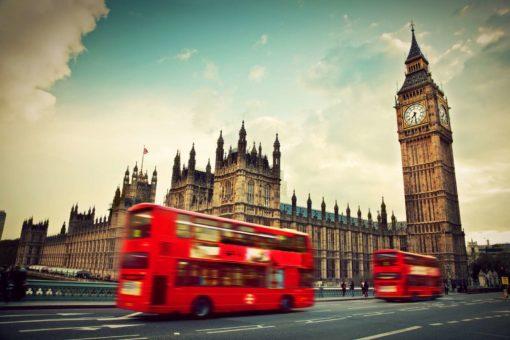 Fototapet Londra Autobuz Big Ben