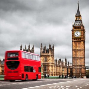 Tapet Foto Londra Autobuz Big Ben