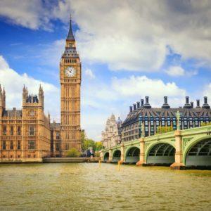 Londra Big Ben, Râul Tamisa, Anglia, Fototapet