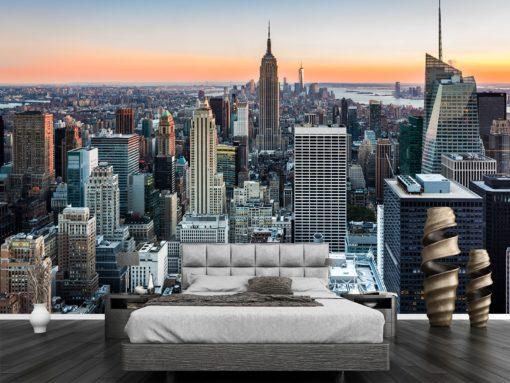 Tapet Foto 3D New York 03 Simulare Dormitor