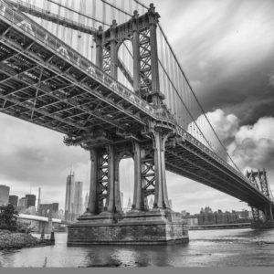 Tapet Foto New York 12 Podul Brooklyn Alb-Negru