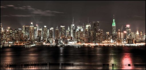 Fototapet New York Skyline 14 Noapte