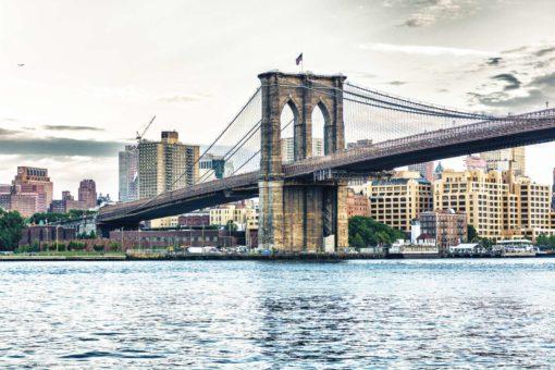 New York 17 - Podul Brooklyn Bridge - Fototapet 3D
