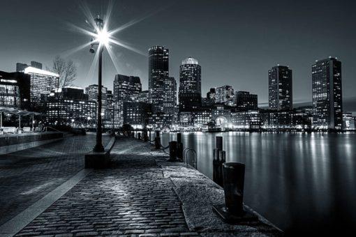 Fototapet New York Noaptea Alb-Negru 23