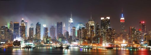 Tapet Foto New York Noaptea 24