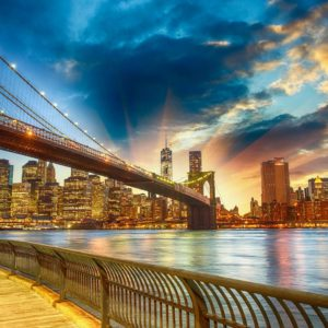 Tapet Foto New York Brooklyn Bridge Rasarit
