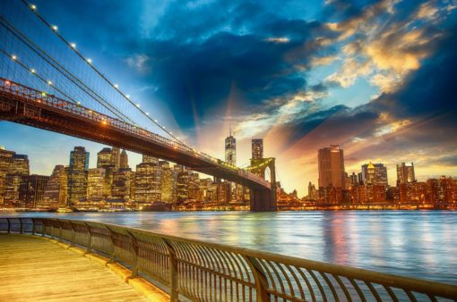 Tapet Foto New York Brooklyn Bridge Rasarit