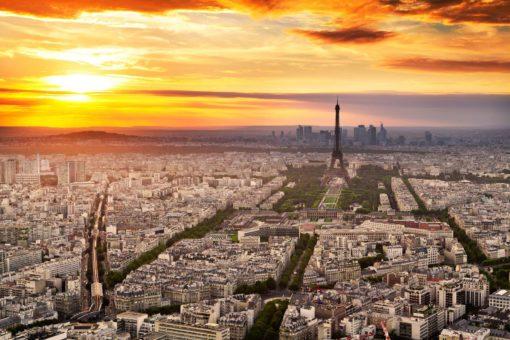 Tapet 3D Perspectiva Aeriala Paris
