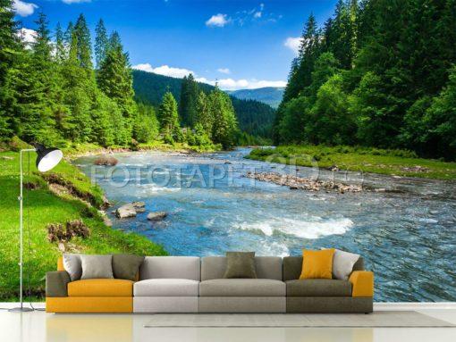 Fototapet Peisaj Montan Râu de munte Fox-01-0137