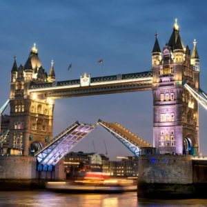 Londra - Anglia - Pod Tower Bridge - Seară - Tapet 3D