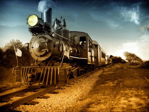 Tapet foto locomotiva trenuri retro 01