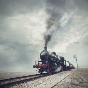 Tapet foto locomotiva tren retro 03