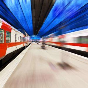 Fototapet Statie Metrou Trenuri 07
